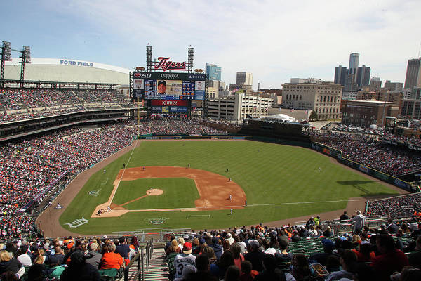 American League Baseball Art Print featuring the photograph Baltimore Orioles V. Detroit Tigers by John Grieshop
