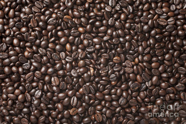 Heat Art Print featuring the photograph A Lot Of Roasted Coffee Beans Which by Wait For