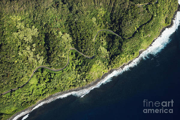 Color Art Print featuring the photograph Aerial View Of Scenic Road Along Coast by Iofoto