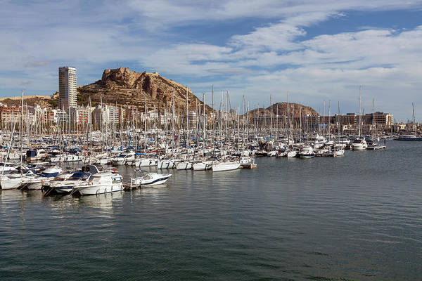 Alicante Art Print featuring the photograph Alicante Marina And The Santa Barbara Castle by Leighton Collins