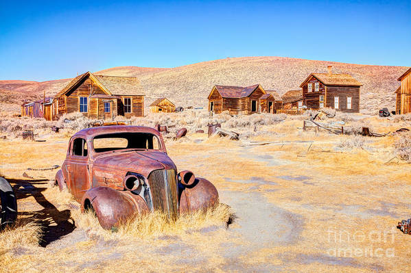Usa Art Print featuring the photograph Bodie Is A Ghost Town In The Bodie by Mariusz S. Jurgielewicz
