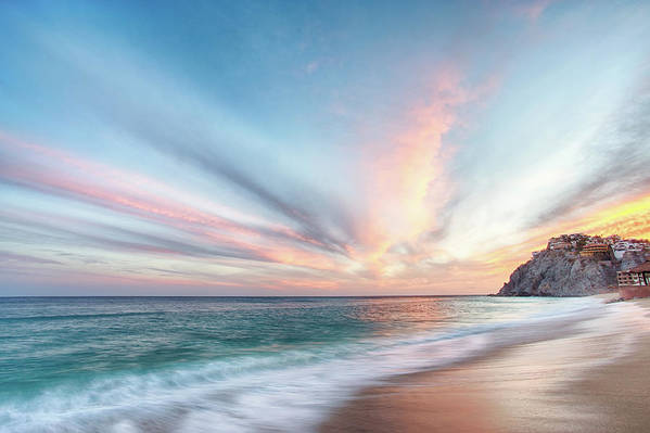 Beach Art Print featuring the photograph Cabo San Lucas Beach Sunset Mexico by Nathan Bush
