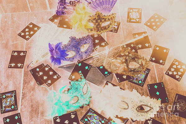 Magician Art Print featuring the photograph Carnival Of Cards by Jorgo Photography - Wall Art Gallery