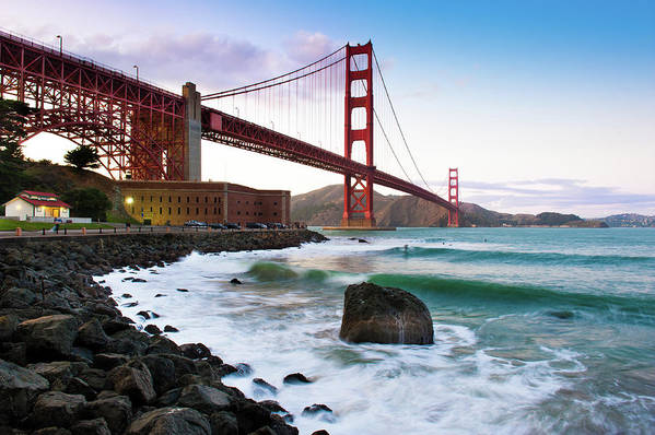 San Francisco Art Print featuring the photograph Classic Golden Gate Bridge by Photo By Alex Zyuzikov