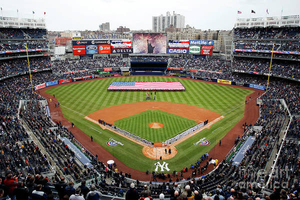 Topics Art Print featuring the photograph Detroit Tigers V New York Yankees by Jeff Zelevansky