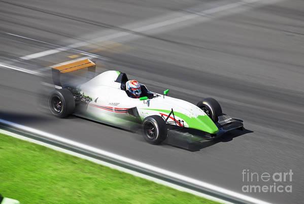 Motor Art Print featuring the photograph Formula 2.0 Race Car Racing On Speed by Kuznetsov Alexey