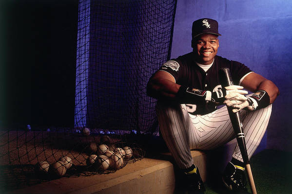 American League Baseball Art Print featuring the photograph Frank Thomas by Ronald C. Modra/sports Imagery