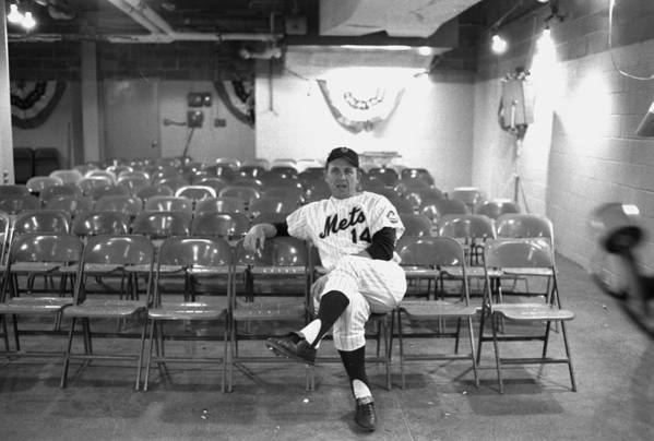 American League Baseball Art Print featuring the photograph Gil Hodges Of The 1969 New York Mets by New York Daily News Archive
