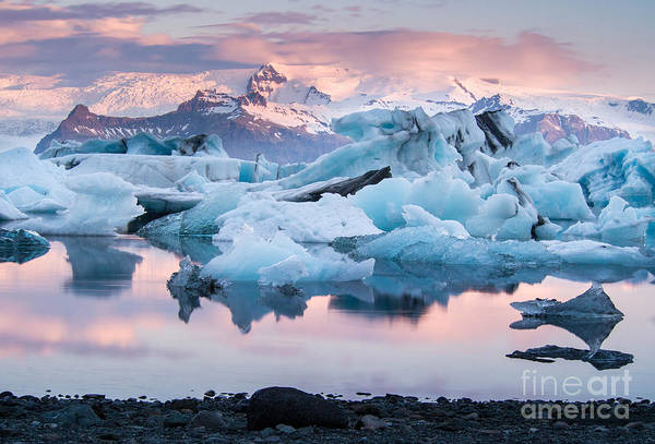 Icelandic Art Print featuring the photograph Jokulsarlon Glacier Lagoon, Iceland by Adellyne