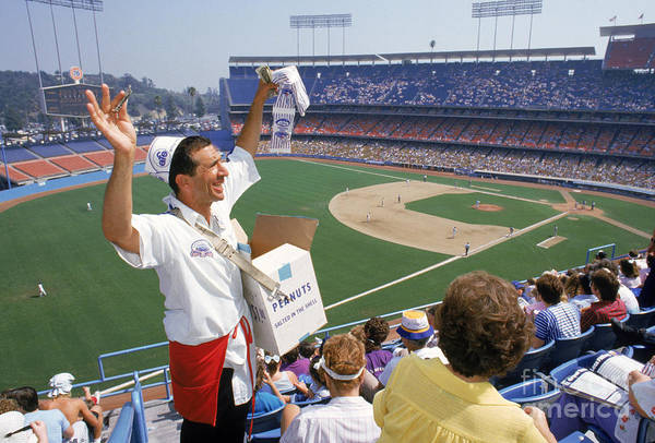 1980-1989 Art Print featuring the photograph Los Angeles Dodgers by Andrew D. Bernstein