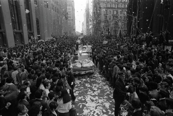 People Art Print featuring the photograph Mets Ticker Tape Parade by Fred W. McDarrah