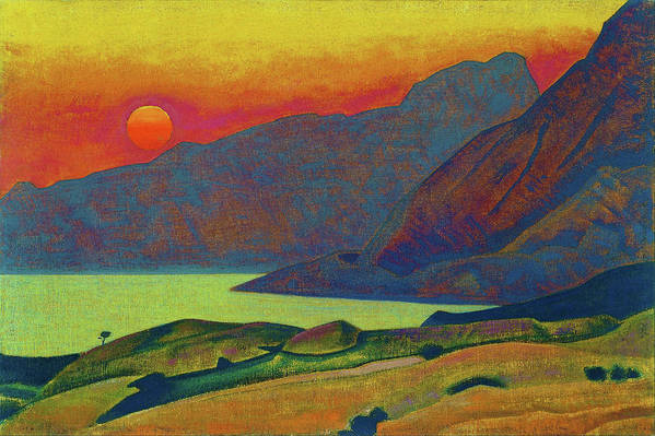 Nicholas Roerich Art Print featuring the painting Monhegan, Maine - Digital Remastered Edition by Nicholas Roerich
