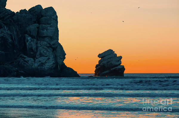 Sunset Art Print featuring the photograph Morro Bay Sunset by Hanna Tor