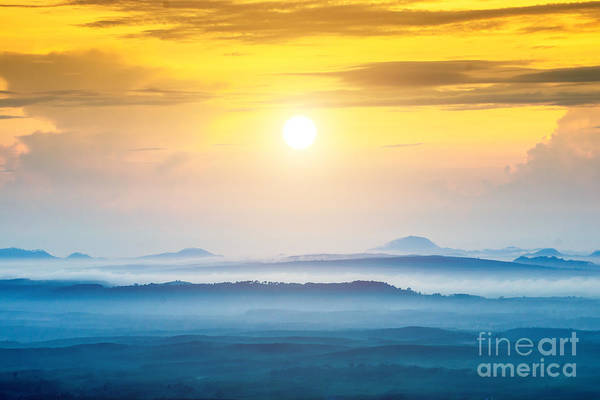 Forest Art Print featuring the photograph Mountain And Mist At Kra-bi, Thailand by Noppharat Studio 969