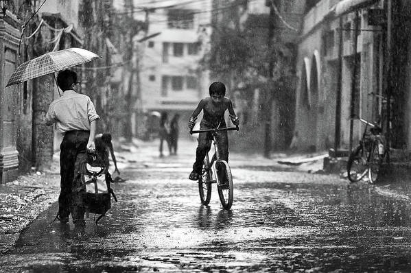 Rain Art Print featuring the photograph My Freedom by Rafaat Pronoy