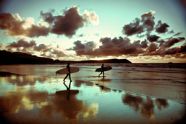 Water's Edge Art Print featuring the photograph Old Skool Surf by Landscapes, Seascapes, Jewellery & Action Photographer