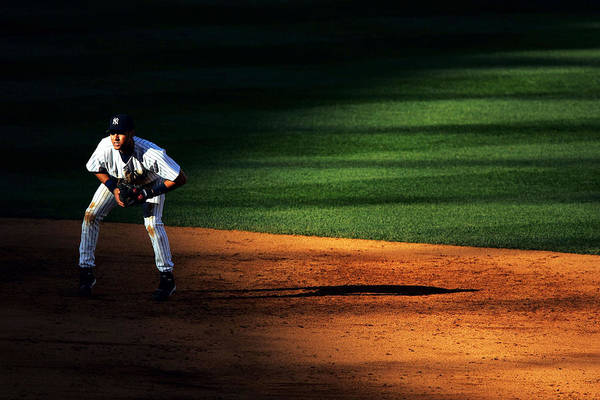 People Art Print featuring the photograph Padres Vs Yankees by Al Bello