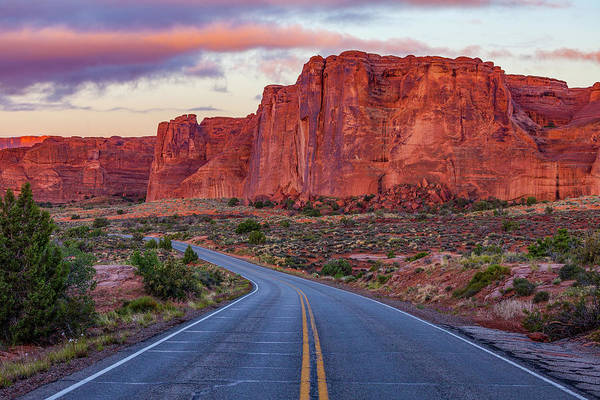 Utah Art Print featuring the photograph Red Rocks Road by Darren White