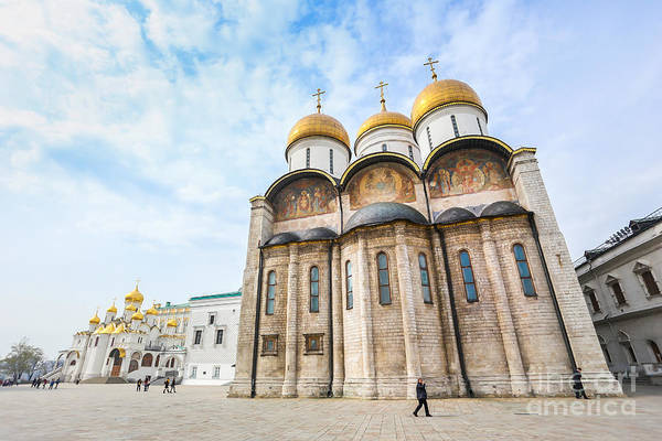 Symbol Art Print featuring the photograph Russia. Moscow. Assumption Cathedral Of by Thipjang
