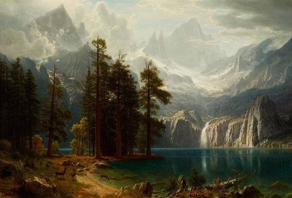 Sierra Nevada Art Print featuring the painting Sierra Nevada by MotionAge Designs