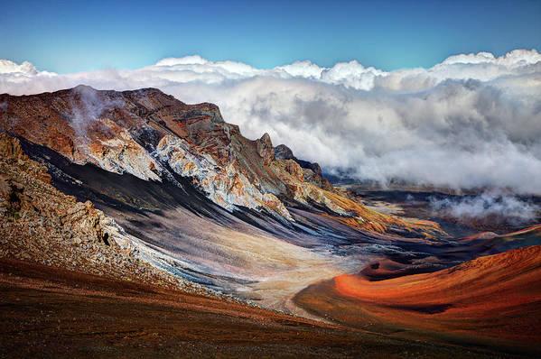 Scenics Art Print featuring the photograph Sliding Sands Trail, Haleakala National by Ed Freeman