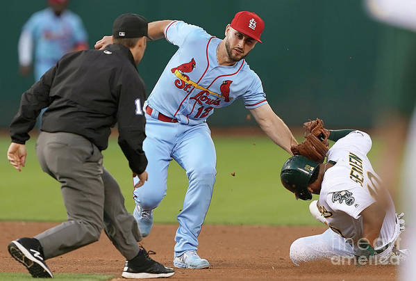 St. Louis Cardinals Art Print featuring the photograph St Louis Cardinals V Oakland Athletics by Thearon W. Henderson
