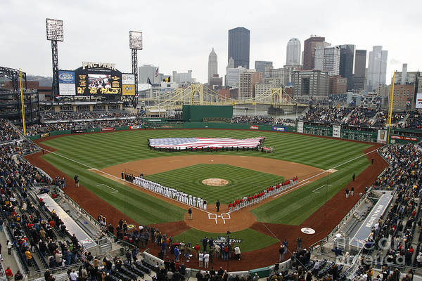 Pnc Park Art Print featuring the photograph St. Louis Cardinals V Pittsburgh Pirates by Gregory Shamus