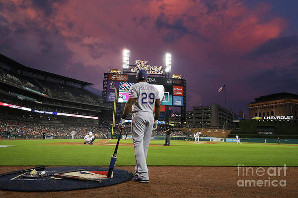 Adrian Beltre Art Print featuring the photograph Texas Rangers V Detroit Tigers by Gregory Shamus