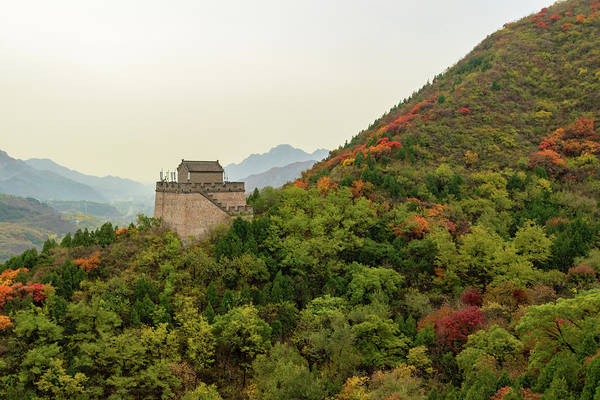 China Art Print featuring the photograph Watch Tower, Great Wall Of China by Aashish Vaidya