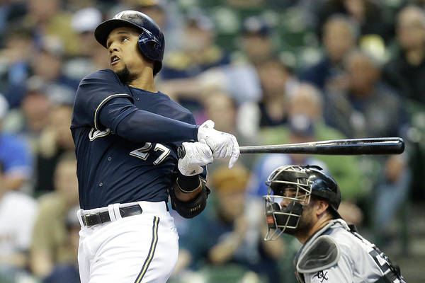 American League Baseball Art Print featuring the photograph Carlos Gomez by Mike Mcginnis