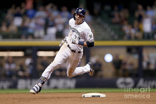 People Art Print featuring the photograph Christian Yelich by Dylan Buell