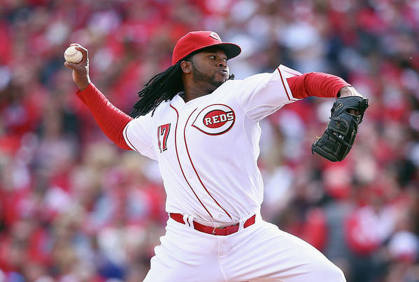 Great American Ball Park Art Print featuring the photograph Johnny Cueto by Andy Lyons