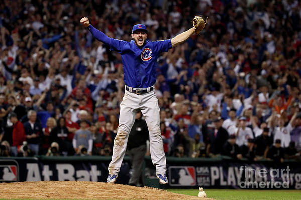 People Art Print featuring the photograph Kris Bryant by Ezra Shaw