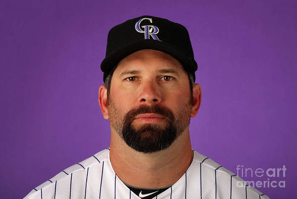 Media Day Art Print featuring the photograph Todd Helton by Christian Petersen