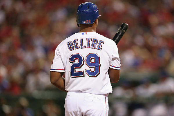 Adrian Beltre Art Print featuring the photograph Adrian Beltre by Ronald Martinez