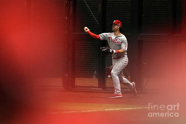 People Art Print featuring the photograph Bryce Harper by Christian Petersen