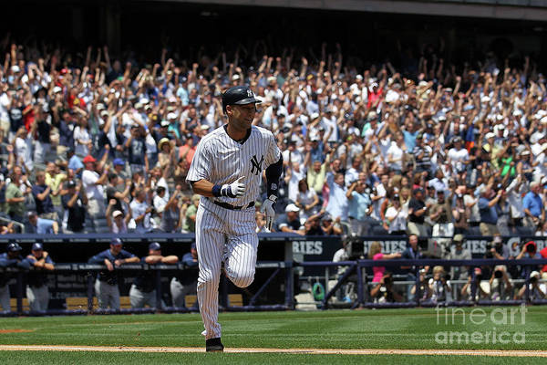 People Art Print featuring the photograph Derek Jeter by Nick Laham