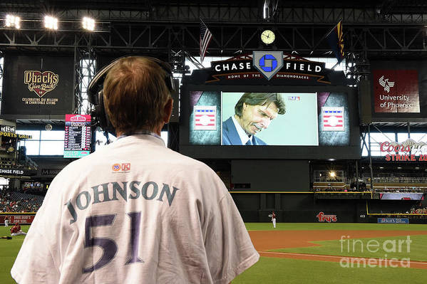 People Art Print featuring the photograph Randy Johnson by Norm Hall