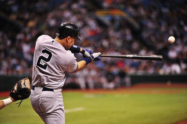 People Art Print featuring the photograph Derek Jeter by Ronald C. Modra/sports Imagery