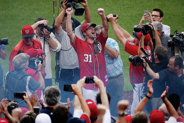 People Art Print featuring the photograph Max Scherzer by Rob Carr