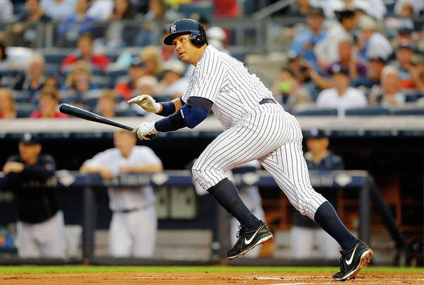 Following Art Print featuring the photograph Alex Rodriguez by Jim Mcisaac