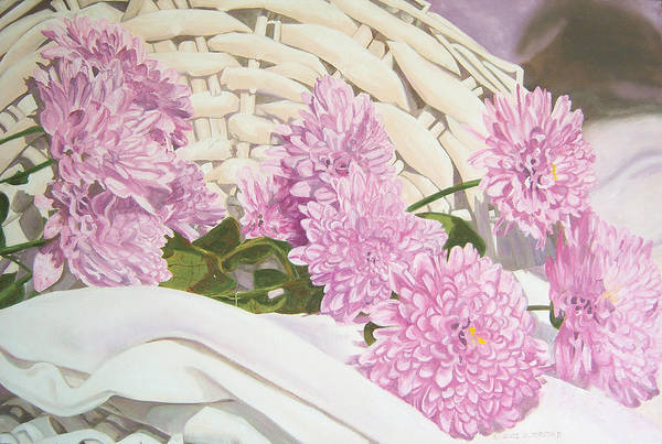 Fine Art Print Art Print featuring the painting Floral Art Print For Sale Still Life Oil Painting by Diane Jorstad