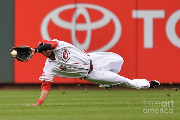 Great American Ball Park Art Print featuring the photograph Billy Hamilton And Starling Marte by Jamie Sabau