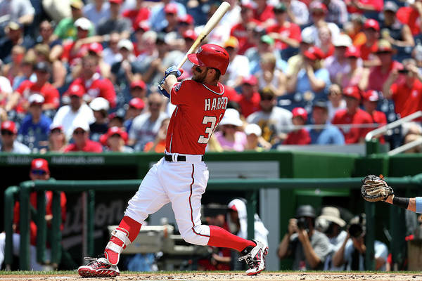Following Art Print featuring the photograph Bryce Harper by Patrick Smith