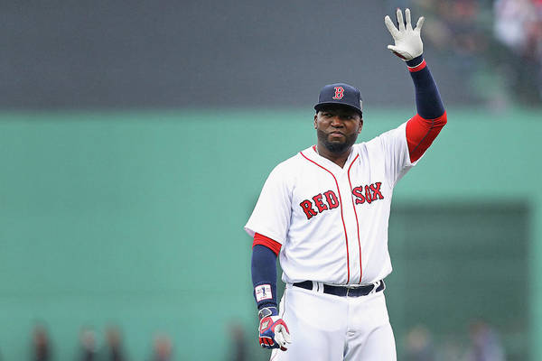 Three Quarter Length Art Print featuring the photograph David Ortiz by Maddie Meyer