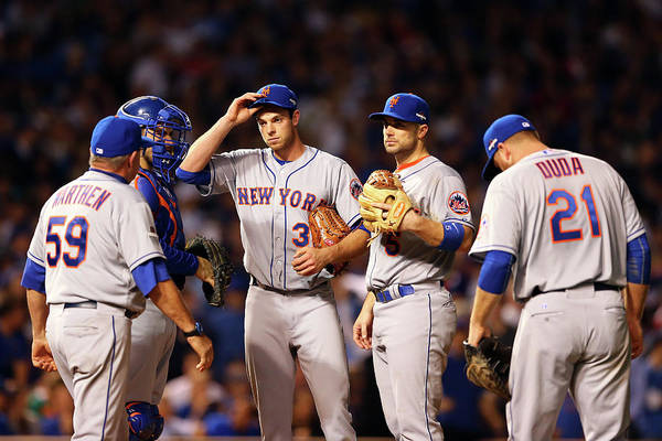 Three Quarter Length Art Print featuring the photograph David Wright And Steven Matz by Elsa