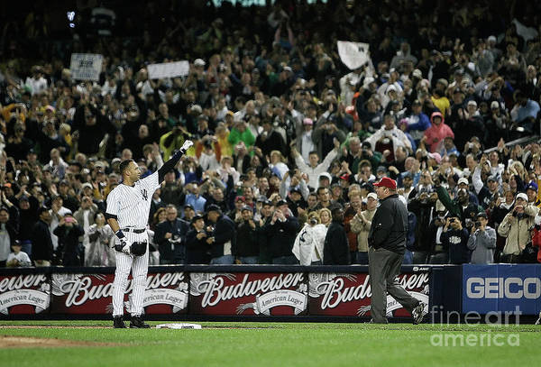 People Art Print featuring the photograph Derek Jeter by Mike Ehrmann