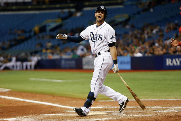 People Art Print featuring the photograph Evan Longoria by Brian Blanco