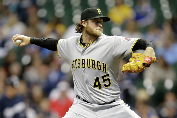 Gerrit Cole Art Print featuring the photograph Gerrit Cole by Mike Mcginnis