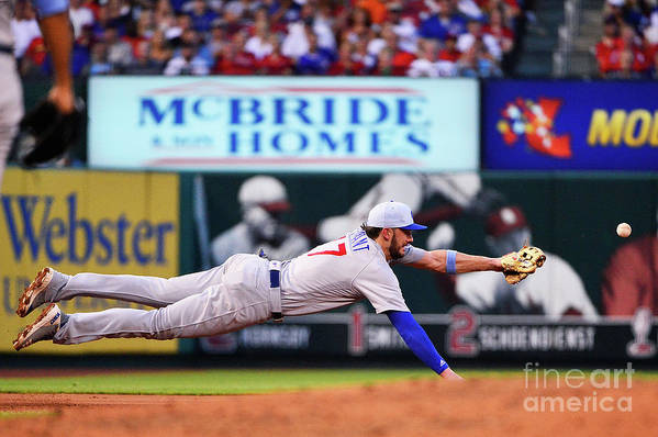 People Art Print featuring the photograph Jack Flaherty And Kris Bryant by Jeff Curry
